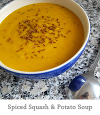Spiced Squash & Potato Soup