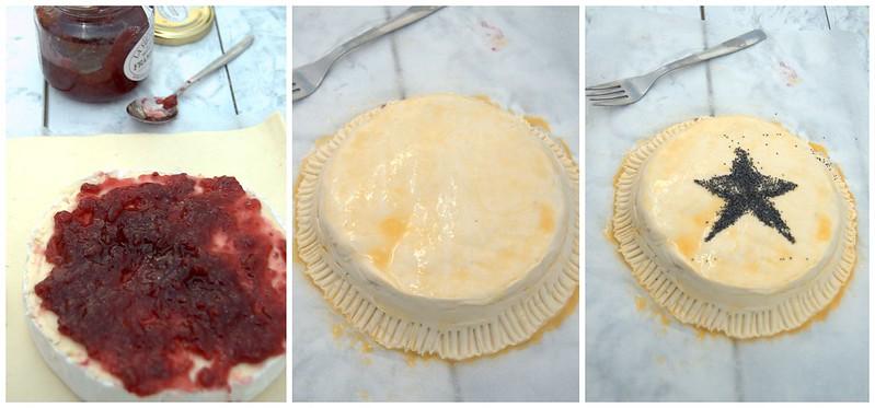 Hojaldre relleno de Camembert con frutos rojos