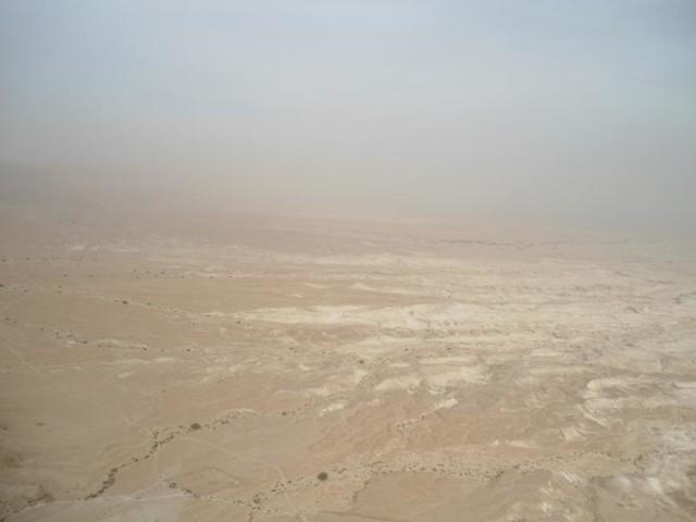 Vista del desierto de Judea desde Masada