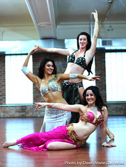 Pittsburgh Bellydance Academy instructors: Kate, Maqui, and Jen