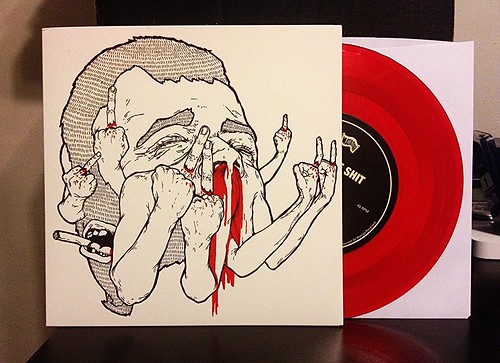 "Bits Of Shit - Riders 7"" - Red Vinyl by Tim PopKid"