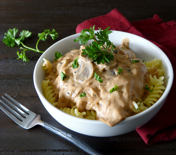 Tofu(less) Mushroom Stroganoff from Isa Does It