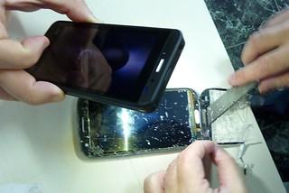 Retirando el cristal