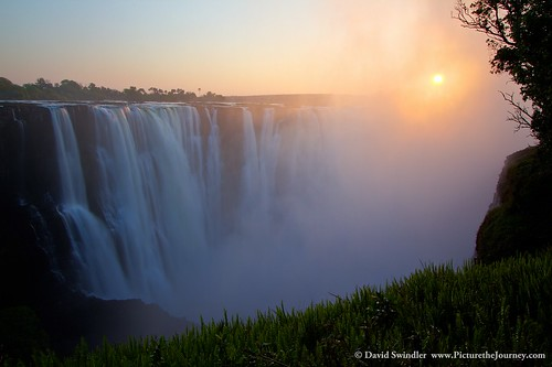 africa sunrise waterfall falls zimbabwe victoriafalls