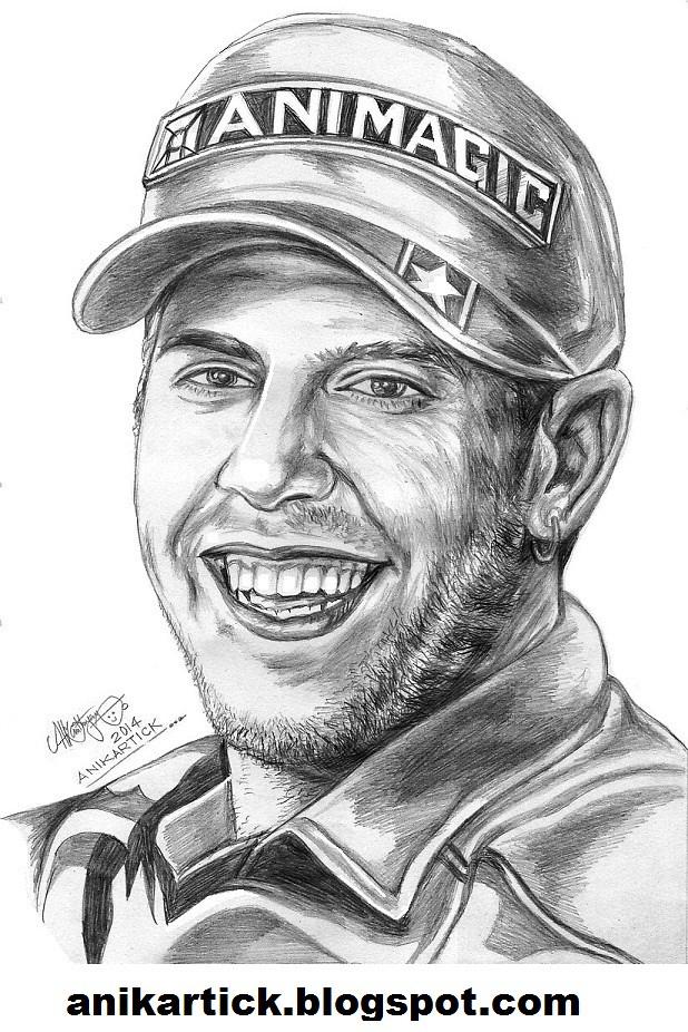 Sebastian vettel german formula one racing driverportrait pencil sketch artist anikartick