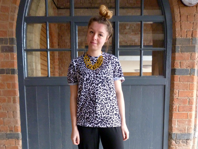 Rare jumpsuit | Outfit post | Leopard print t-shirt