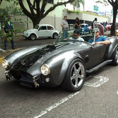 race car(1.0), automobile(1.0), vehicle(1.0), classic car(1.0), land vehicle(1.0), ac cobra(1.0), sports car(1.0),