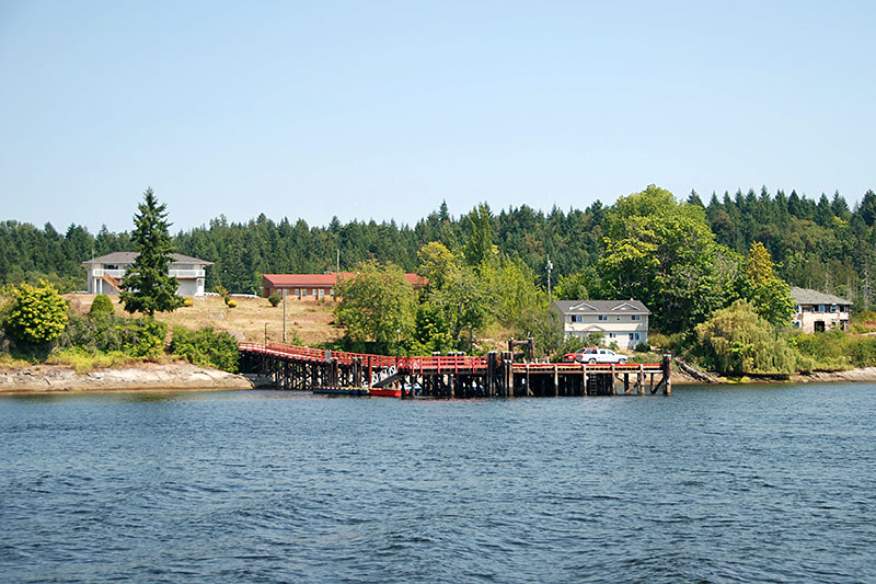 Government Wharf at Penelakut Island (Kuper Island), Gulf Islands, Vancouver Island, British Columbia