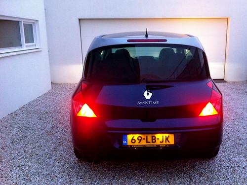 Triangular rear lights