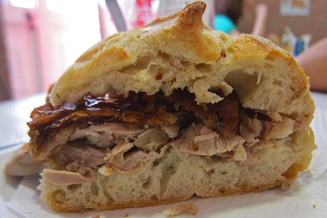 Leitao Sandes (suckling pig sandwich) from António dos Leitoes Porta Larga - Coimbra, Portugal