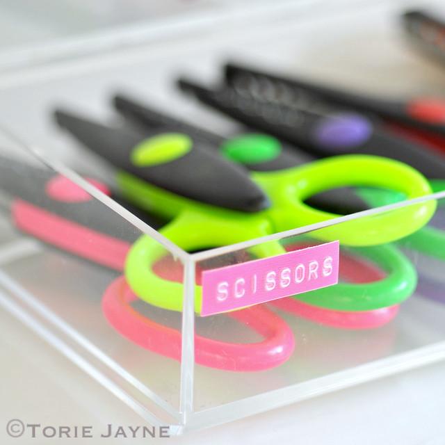 Organised craft scissors