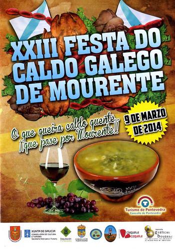 Pontevedra 2014 - XXIII Festa do Caldo Galego de Mourente - cartel
