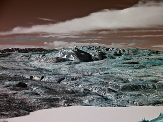 Hills West of Little Fox Lakes Detail - 665nm IR