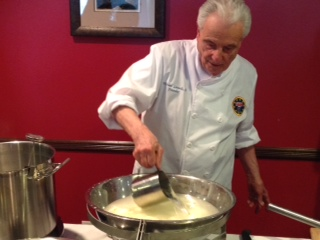 Michael Losurdo making fresh mozzarella