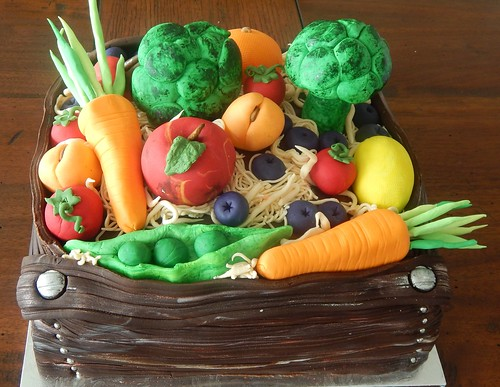 Birthday Cake - Fruit and Vegetable Twins