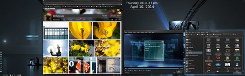 Workspace 1 of 3 - Web & Vlc Movie & Files