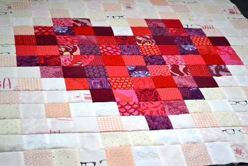 Pixelated Heart Quilt