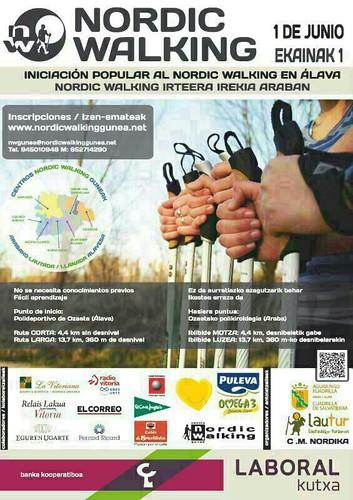 Iniciación al Nordic Walking en Alava. 1 de Junio del 2014