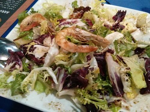 Zaragoza | La mar salada | Ensalada templada con langostinos