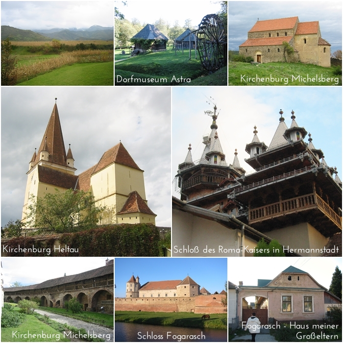 Fogarasch Schloss | Kircheburg Heltau | Michelsberg | Dorfmuseum Astra | Schloss des Roma Kaisers