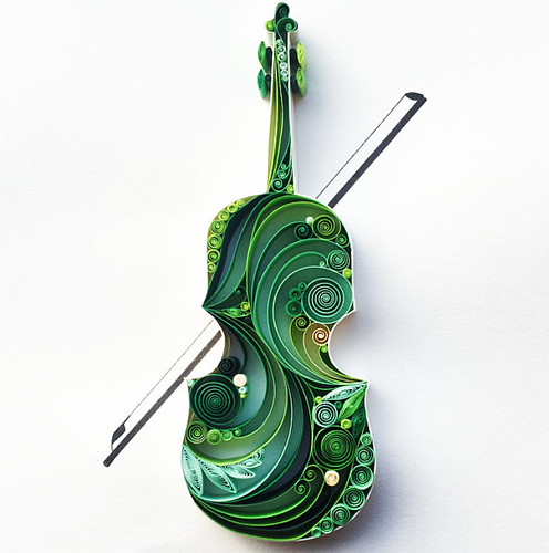 Quilled Violin by Sena Runa