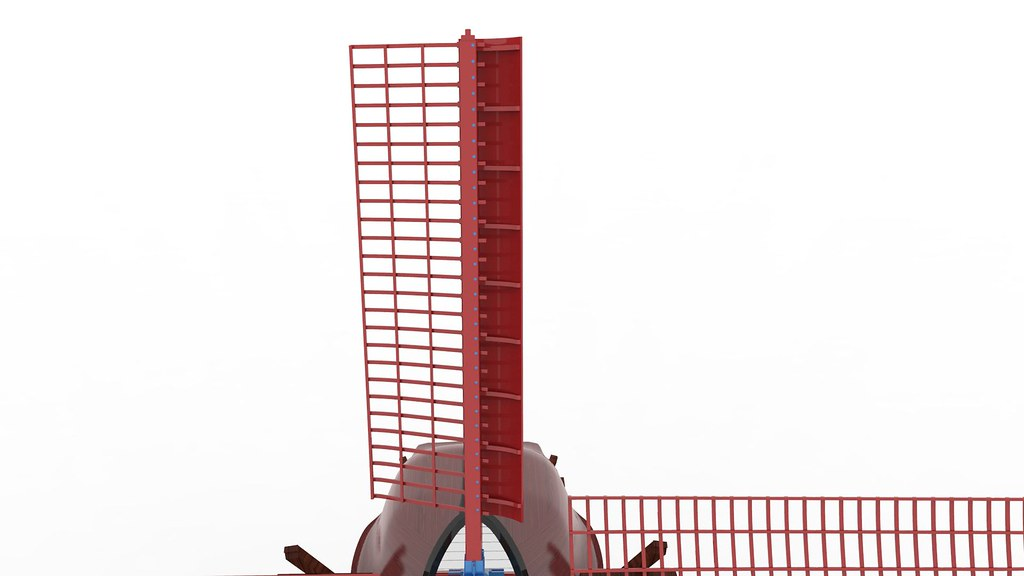 Toy Wind Mill Textured 3d Model