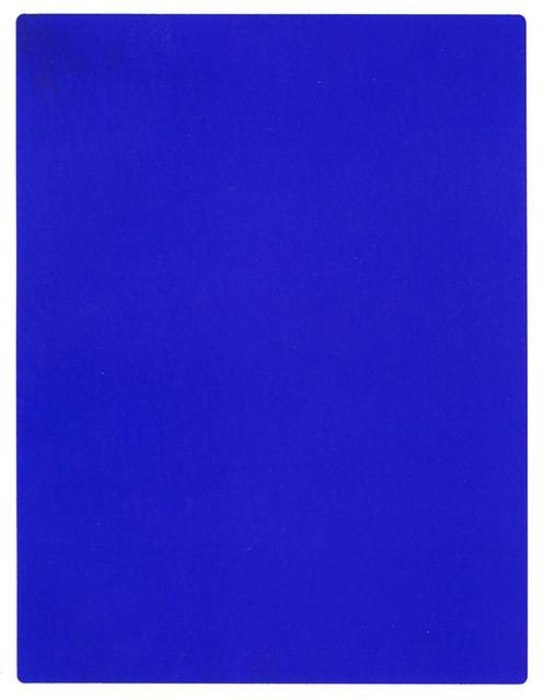 Yves Klein, Monochrome bleu sans titre, (IKB 191), 1962 © Yves Klein ADAGP, Paris, 2015