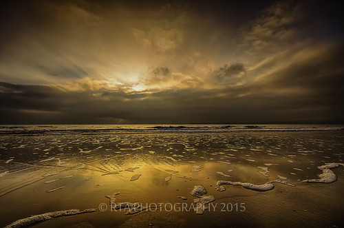 sea sky sunrise reflections dawn golden sand devon preston paignton rtaphotography