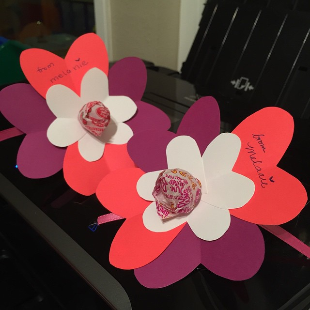 "Making Valentines ""from Melanie"" -- I love these! But next I have to make ""from Vincent""..."