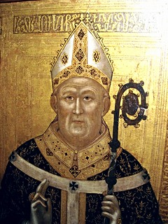 Funerary portrait of the Archbishop of Naples Umberto d'Ormont (about 1322) by Lello da Orvieto - Museo Diocesano in Naples