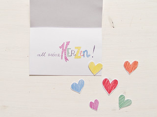 All my hearts belong to you - a greeting card
