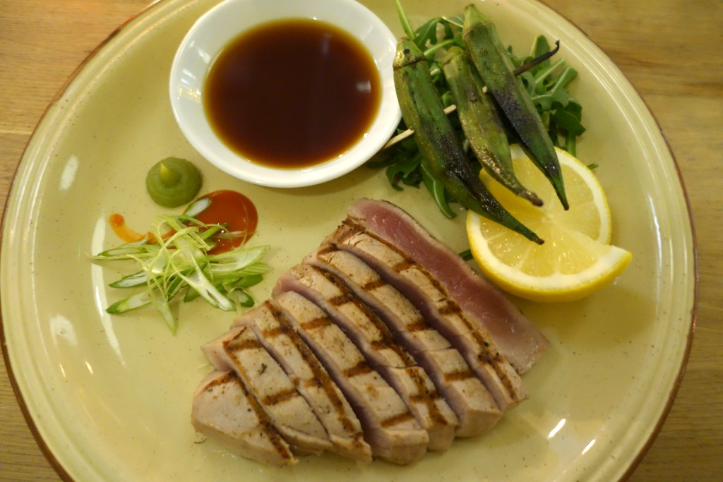 Forge & Co, Shoreditch: Seared Tuna with Okra, Ponzu