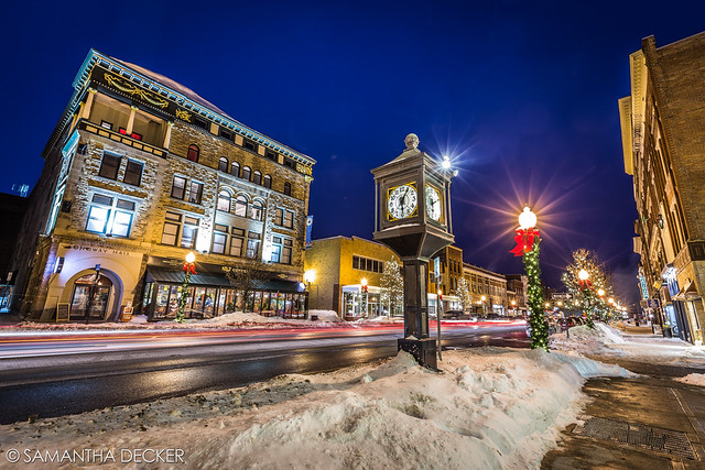 Glens Falls at Night