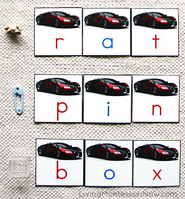 Movable Alphabet Spelling with a Car Theme