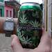 It's 4:20 in Trinidad de Cuba Cold cerveza thanks to a Flower Power Botanicals koozie - FlowerPowerBotanicals.com