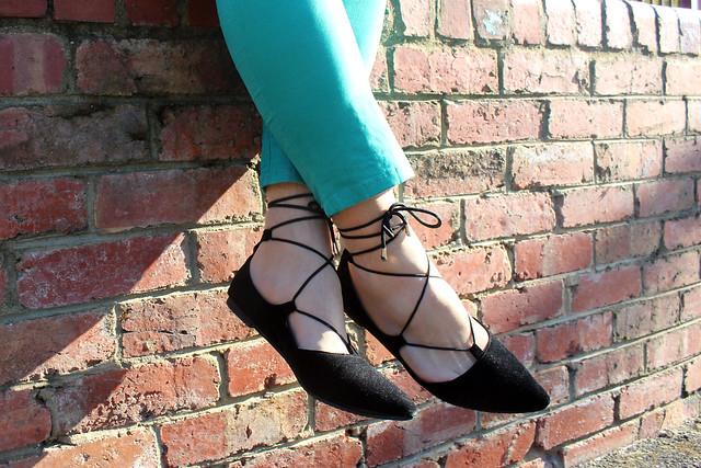 Laced Ballet Flats