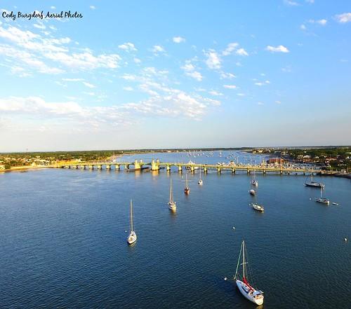 #staugustine #lionsbridge #water #sailboat #history #drone #aerialphotography #photography #phantom #dji #inlet