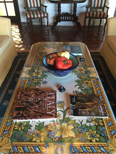 handpainted table,  Toscana