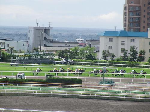 好天の函館競馬場