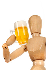 dummy with beer mug