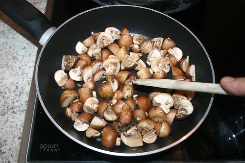 61 - Champignons anbraten / Braise champignons
