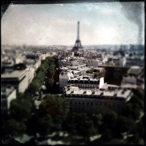 View of Eiffel Tower from the Arc.