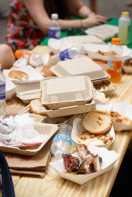 The aftermath of Big Apple BBQ Block Party
