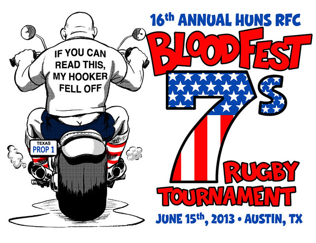 Huns RFC Bloodfest Shirt 2013