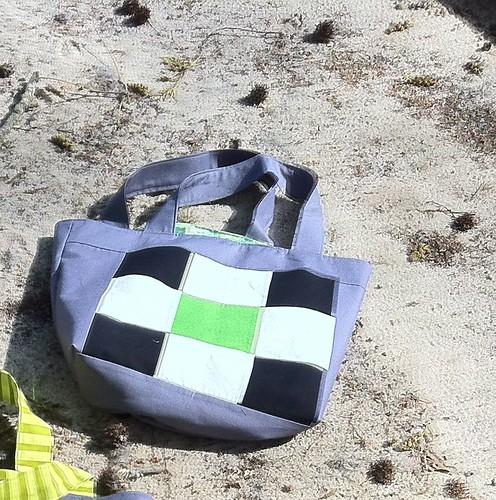 Bag #6 (B/W/green)