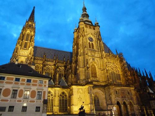Cadedral de Praga por la noche