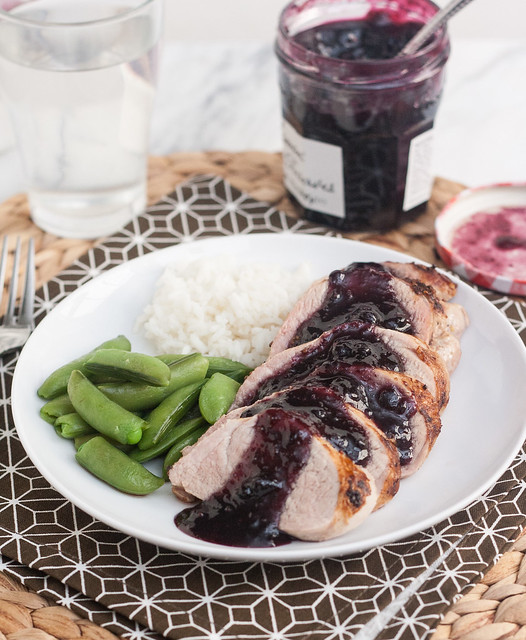 Pork Tenderloin with Spicy Blueberry Sauce | Tracey's Culinary ...