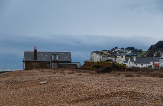 Plage de Kingsdown et les White Cliffs au loin
