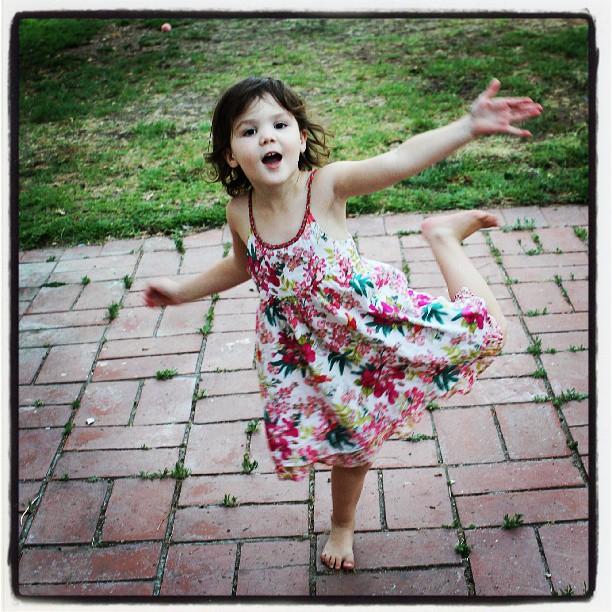 Dancing girl...