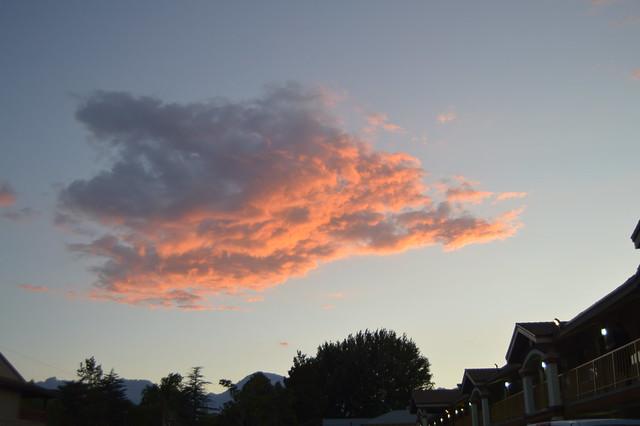 Pink clouds over Bishop